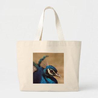 Headshot indio del pavo real bolsa de mano