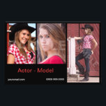 """Headshot Model Comp Cards Affordable<br><div class=""""desc"""">Affordable headshot model or acting comp cards. Customize your photos and upload online. Select fonts,  card style and more. Perfect zed cards for acting or modeling auditions and casting calls.</div>"""