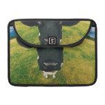 Headshot of Friesian Cow Sleeve For MacBook Pro