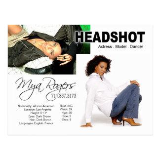 Headshot para el actor del modelo el | postal