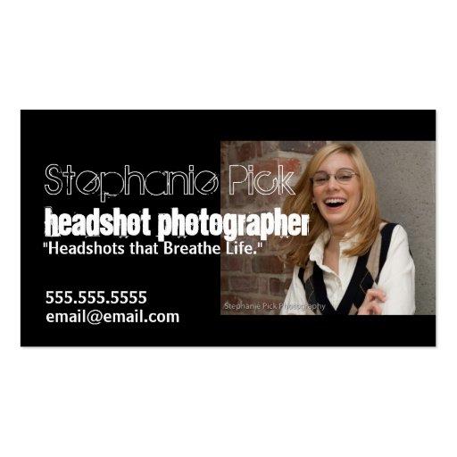 Headshot photographer promotional business card zazzle for Promotional business cards