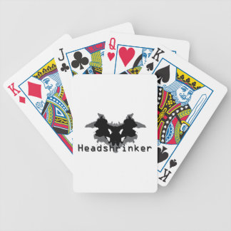 Headshrinker Bicycle Playing Cards