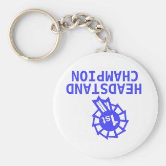 headstand champion basic round button keychain