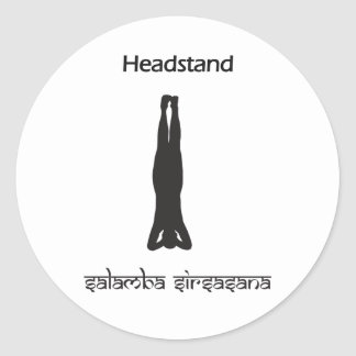 Headstand Classic Round Sticker