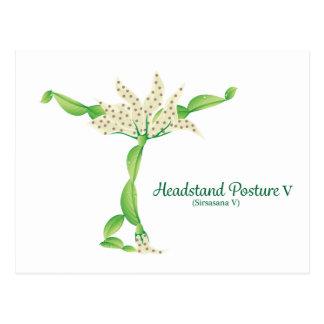 (Headstand Posture V) Postcard