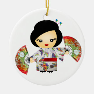 Headstock with Kimono Ceramic Ornament