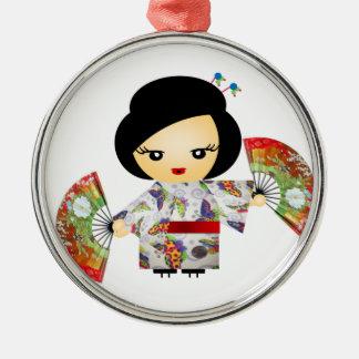 Headstock with Kimono Metal Ornament