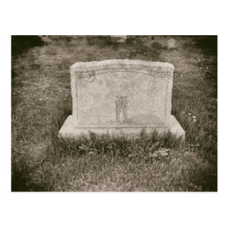 Headstone Antique Haunted Graveyard Old Cemetery Postcard