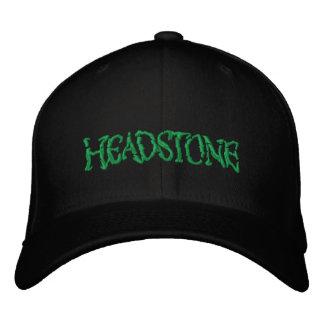 HEADSTONE Green Logo Embroidered Baseball Cap