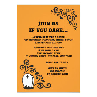 Headstone Halloween Invitation
