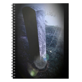 Headstone Halloween Themed Notebook (80 Pages B&W)