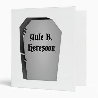 Headstone Humor 3 Ring Binder