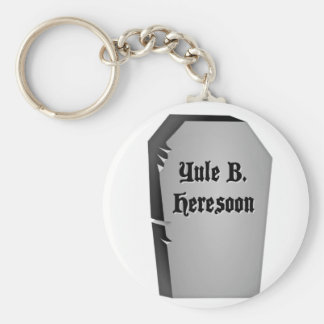 Headstone Humor Keychain