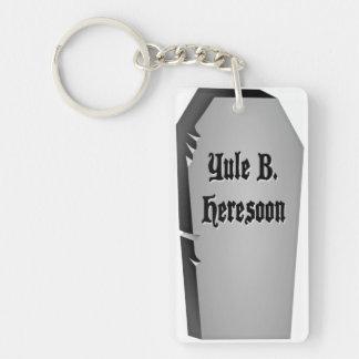 Headstone Humor Rectangular Acrylic Key Chains