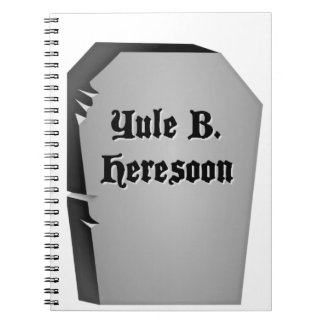 Headstone Humor Notebook
