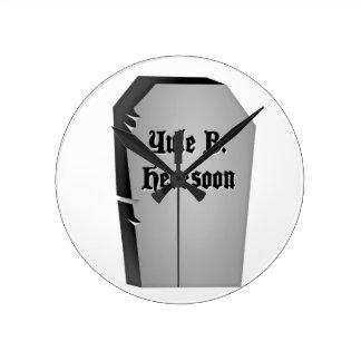 Headstone Humor Round Clock