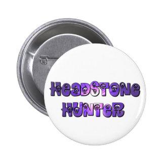 Headstone Hunter button in purple