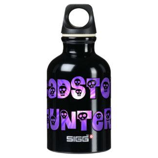 Headstone Hunter Purple Skulls Water Bottle