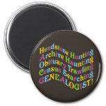 Headstone Hunting Genealogist Refrigerator Magnets