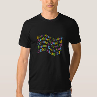 Headstone Hunting Genealogist T-shirt