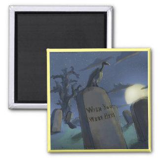 Headstone Invitational Funny Halloween Magnet