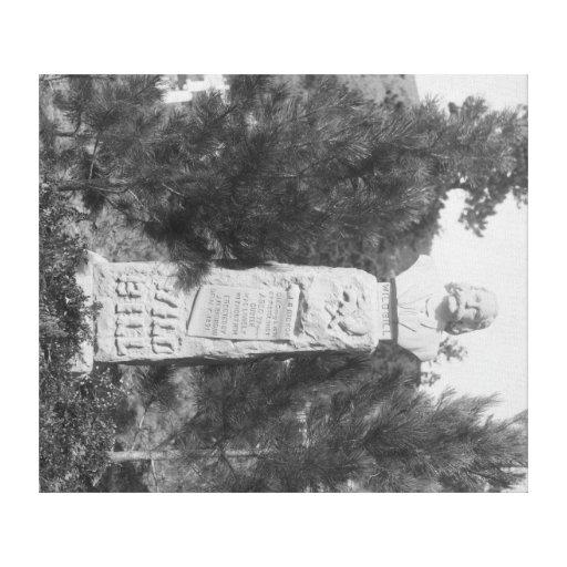 Headstone of Wild Bill Hickock's Grave Photograp Canvas Print