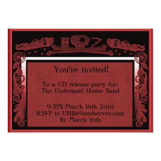 headstone party invite (red)