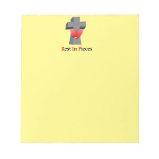 Headstone Rest in Peace - Pieces Notepad