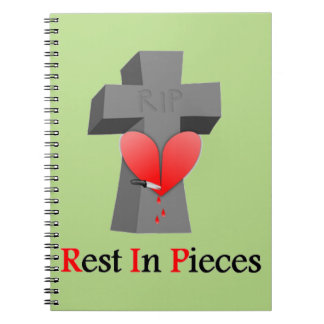 Headstone Rest in Peace - Pieces Spiral Notebook