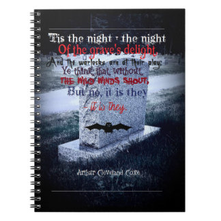 Headstone Themed Halloween Notebook (80 Pages B&W)