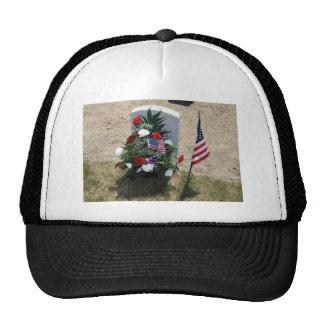 Headstone With Flowers Trucker Hat