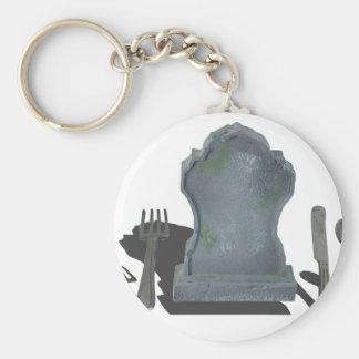 HeadstoneAndSilverware070315.png Basic Round Button Keychain