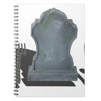 HeadstoneAndSilverware070315.png Spiral Notebook