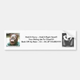 HeadUpAss, 151, Hold It Harry---Hold It Right H... Bumper Sticker