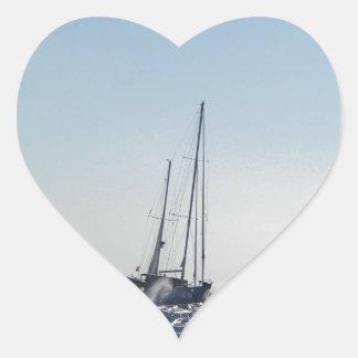 Headwind And Sun Heart Sticker