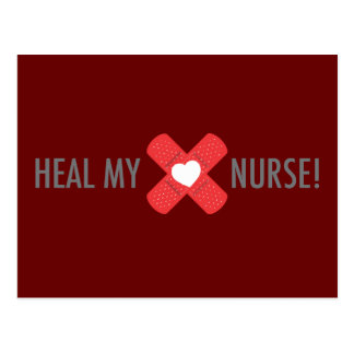 Heal my heart Nurse Postcard