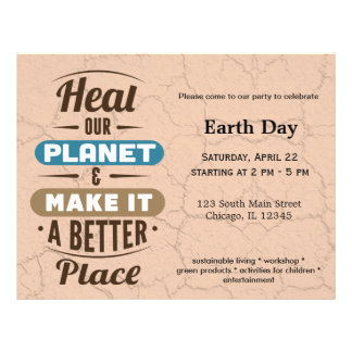 """Heal our planet 8.5"""" x 11"""" flyer"""