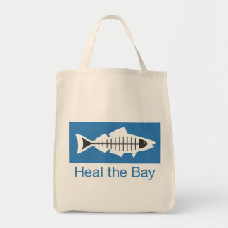 Heal the Bay Basic Logo Tote Grocery Tote Bag