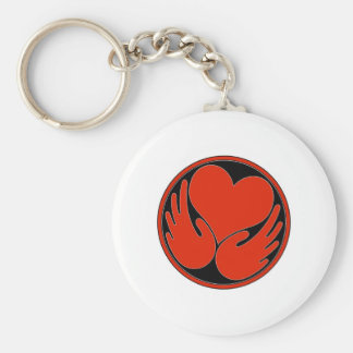 Heal The Harm logo products Basic Round Button Keychain