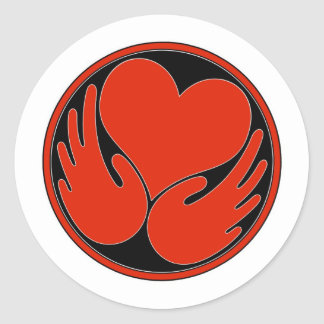 Heal The Harm logo products Classic Round Sticker