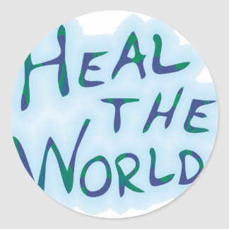 Heal the World Classic Round Sticker