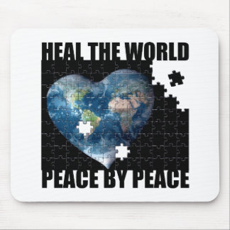 Heal the World Peace by Peace Mouse Pad