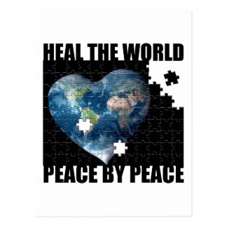 Heal the World Peace by Peace Postcard