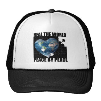 Heal the World Peace by Peace Trucker Hat
