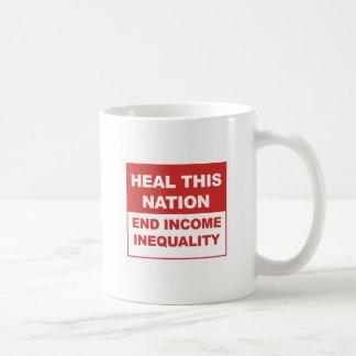 Heal This Nation - End Income Inequality Coffee Mug
