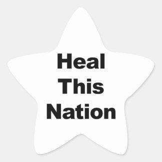Heal This Nation Star Sticker