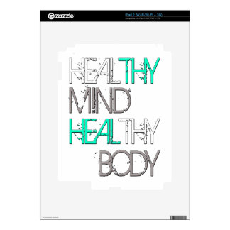 Heal Thy Mind Heal Thy Body Decals For iPad 2