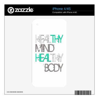 Heal Thy Mind Heal Thy Body iPhone 4S Decals