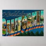 Healdburg, California - escenas grandes de la letr Póster