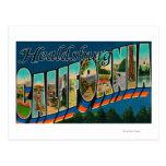 Healdburg, California - escenas grandes de la Postal